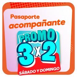 Pasaporte ACOMPAÑANTE 3x2